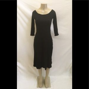 NWT Free People Beach Size Sm Black Rib Knit Dress